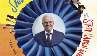"This cover image released by Rounder Records shows ""The Long-Awaited Album,"" a new release by Steve Martin and the Steep Canyon Rangers. (Rounder Records via AP)"