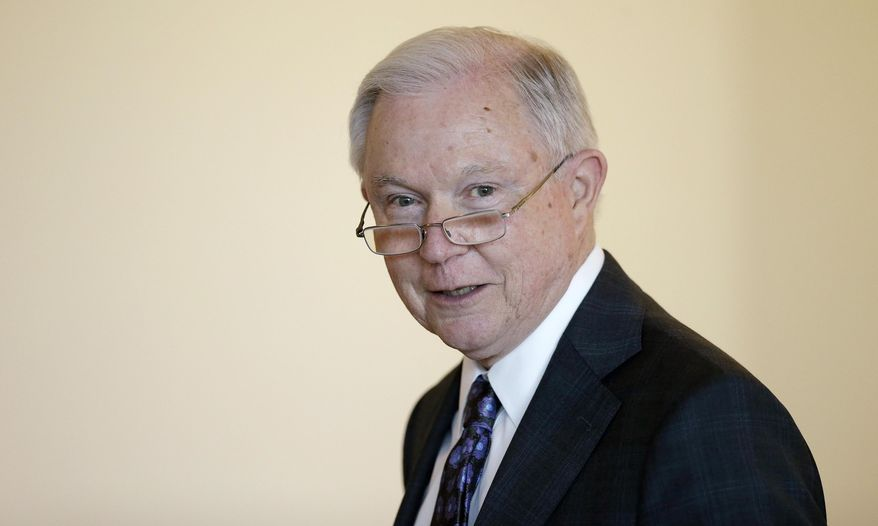 "Attorney General Jeff Sessions speaks to law enforcement officials about transnational organized crime and gang violence at the Federal Courthouse Thursday, Sept. 21, 2017, in Boston. Sessions has called crime groups, like MS-13, ""one of the gravest threats to American safety."" (AP Photo/Stephan Savoia)"