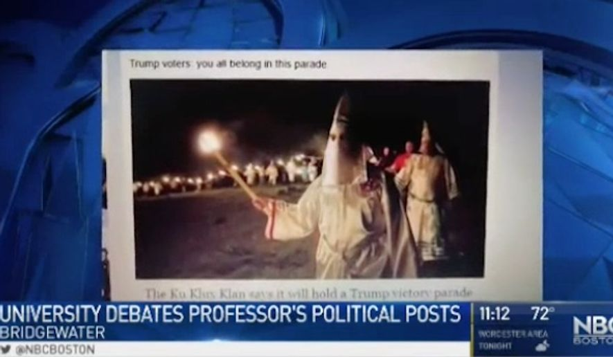 Garrett Nichols, an assistant English professor at Bridgewater State University, is expressing regret after his post-election rant criticizing President Trump and his supporters made headlines. (NECN)
