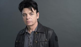 "In this Sept. 7, 2017 photo, Gary Numan poses for a portrait in New York to promote his album, ""Savage."" (Photo by Scott Gries/Invision/AP)"