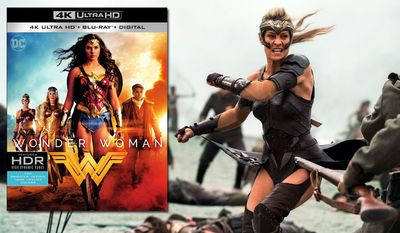 "Antiope (Robin Wright) battles German soldiers in ""Wonder Woman,"" now available on 4K Ultra HD from Warner Bros. Home Entertainment."