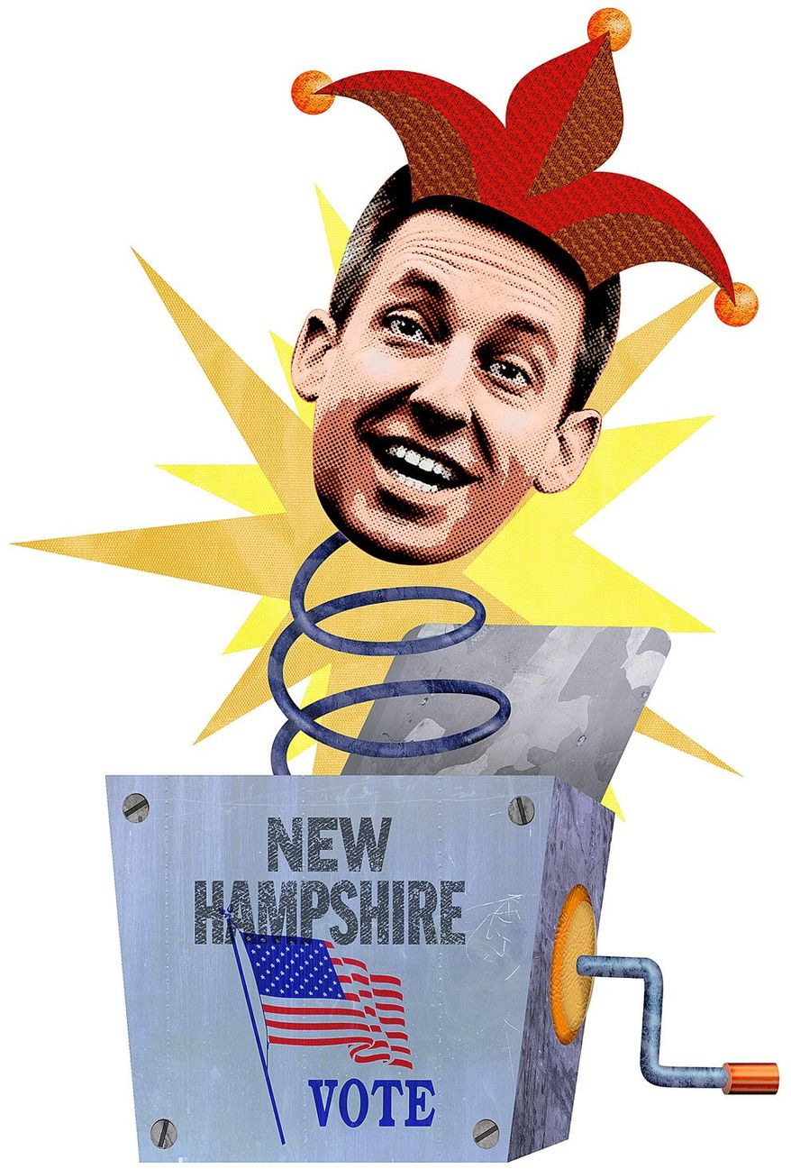 Justin Kandor Causing Trouble in New Hampshire Illustration by Greg Groesch/The Washington Times