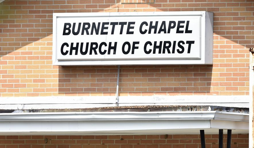 Police Tape Lines The Scene At The Burnette Chapel Church