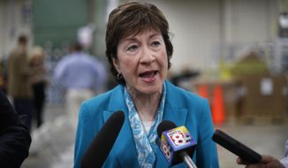 Sen. Susan M. Collins of Maine said Sunday that she finds it difficult to envision backing the last-chance Republican bill repealing the Obama health care law. (Associated Press)