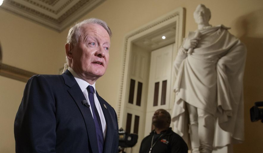 In this March 24, 2017, file photo, Rep. Leonard Lance, R-N.J., is interviewed on Capitol Hill in Washington. (AP Photo/J. Scott Applewhite, File)