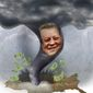 The Al Gore Twister Illustration by Greg Groesch/The Washington Times