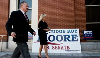 Roy Moore has drawn support from many Republicans, including former presidential adviser Steve Bannon, while President Trump and Senate Majority Leader Mitch McConnell back his opponent, Sen. Luther Strange. (Associated Press)