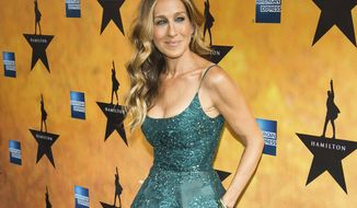 """FILE - In this Aug. 6, 2015 file photo, Sarah Jessica Parker attends the Broadway opening night of """"Hamilton"""" in New York.  Parker of """"Sex and the City"""" fame will be taking four guests shoe-shopping at Bloomingdale's, then sending them to the New York City Ballet as part of an Airbnb launch of local tours and other experiences in New York. Parker's listing goes live Tuesday, with four spots at $400 each, first come first served. The money will benefit the New York City Ballet, where Parker is a board member. (Photo by Charles Sykes/Invision/AP, File)"""