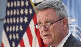 "File-This Aug. 1, 2017, file photo shows U,S, Olympic Committee CEO Scott Blackmun speaking about the Team USA WinterFest for the upcoming 2018 Pyeongchang Winter Olympic Games at Yongsan Garrison, a U.S. military base in Seoul, South Korea.  While a growing number of American athletes and Olympic leaders are calling for Russia's ouster from the upcoming games, executives at the U.S. Olympic Committee insist they must wait for the results of investigations that will determine the country's status. ""This has taken a long time to get sorted out, and we're very anxious to see the outcome,"" Blackmun said Monday, Sept. 25, 2017. ""Until they come out with their findings, it's premature to prejudge the outcome. But obviously, if things are as they appear ... there have to be consequences."" (AP Photo/Lee Jin-man, File)"