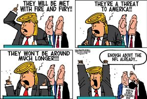 They will be met with fire and fury!