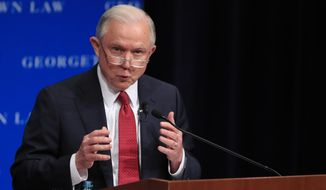 Attorney General Jeff Sessions said free speech rights are being eroded on college campuses across the nation.