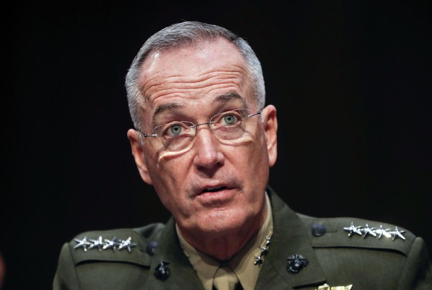 "Gen. Joseph Dunford, chairman of the Joint Chiefs of Staff, told the Senate Armed Services Committee on Tuesday, ""While the political space is clearly very charged right now, we haven't seen a change in the posture of North Korean forces."" (Associated Press)"