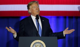 President Trump, speaking in Indianapolis on Wednesday, said the current tax system is standing in the way of an economic comeback. He said his proposal will help middle-class families save money and will eliminate loopholes that benefit the wealthy. (Associated Press)