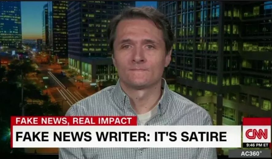 Paul Horner, a leading purveyor of fake news in the 2016 presidential election, has died outside Phoenix at the age of 38. (Screen grab from CNN)