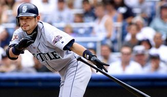 15. Ichiro Suzuki (2001 -present) has 3,079 hits, and a .312 average. He holds the single season record for hits with 262, and posted 10 consecutive 200-hit seasons, an MLB record. ** FILE **