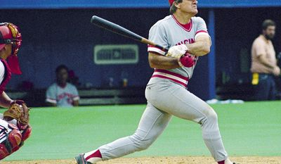 13. Pete Rose (1963-1986) batted .303 with 4,256 hits. He left the game as its all-time leader in hits. He won three National League batting titles before being banned from baseball. Rose is the best player to not be in the Hall of Fame