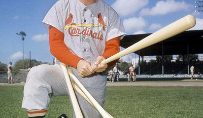 3. Stan Musial (1941-1963) batted .331 over the course of his career and set National League records for career hits (3,630), RBIs (1,951), games played (3,026), at bats (10,972), runs scored (1,949) and doubles (725). His 6,134 total bases remained a major league record until surpassed by Hank Aaron, and his hit total still ranks fourth all-time, and is the highest by any player who spent his career with only one team. A seven-time batting champion with identical totals of 1,815 hits at home and 1,815 hits on the road, he was named the National League MVP three times and led St. Louis to three World Series championships. He also shares the major league record for the most All-Star Games played (24) with Hank Aaron and Willie Mays. Musial was a first-ballot inductee into the Baseball Hall of Fame in 1969, and was also selected to the St. Louis Cardinals Hall of Fame in the inaugural class of 2014
