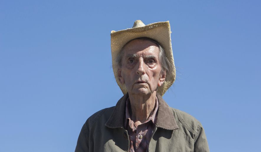 """This image released by Magnolia Pictures shows Harry Dean Stanton in a scene from """"Lucky."""" (Magnolia Pictures via AP)"""