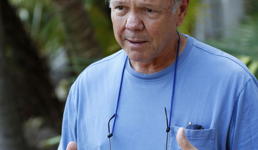 """In this Thursday, Sept. 21, 2017, photo, Ed Swift, president of Key West-based Historic Tours of America, speaks during an interview, in Key West, Fla. """"When housing is eliminated, as it was in this storm, there's literally no place to go. There's no suburbs, there's no driving for an hour and a half to find someplace to live. That's just not possible here,"""" said Swift. As rents in the Keys rose over the last 20 years to $2,000 a month or more for two-bedroom units, Swift and other business owners started building housing in Key West, including dormitory-style accommodations, to keep local employees. (AP Photo/Wilfredo Lee)"""