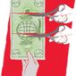 Illustration on challenges to U.S. exporters by Linas Garsys/The Washington Times