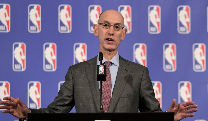 NBA Commissioner Adam Silver speaks during a news conference, Thursday, Sept. 28, 2017 in New York. (AP Photo/Julie Jacobson)