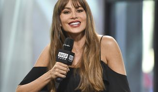 "Actress Sofia Vergara participates in the BUILD Speaker Series to discuss her new subscription underwear line ""EBY"", at AOL Studios on Wednesday, Sept. 27, 2017, in New York. (Photo by Evan Agostini/Invision/AP)"