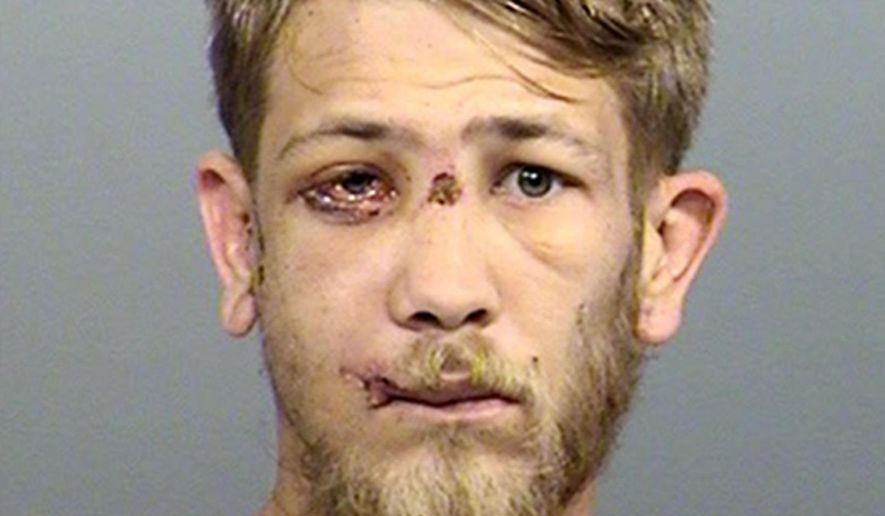 This photo provided by the Marion County Sheriff's Office in Indianapolis shows Jason Brown. Prosecutors said Thursday, Sept. 28, 2017, that they will seek the death penalty against Brown who has been charged with murder in the July 27, 2017, shooting death of Southport Police Lt. Aaron Allan in Indianapolis. (Marion County Sheriff's Office via AP)