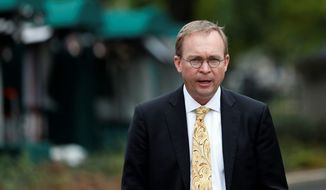 Director of the Office of Management and Budget Mick Mulvaney cautions against reading a lot into early analyses. (Associated Press)