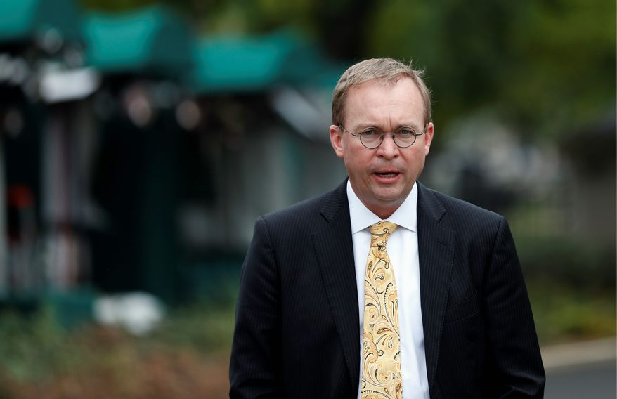 Director of the Office of Management and Budget Mick Mulvaney (Associated Press) **FILE**
