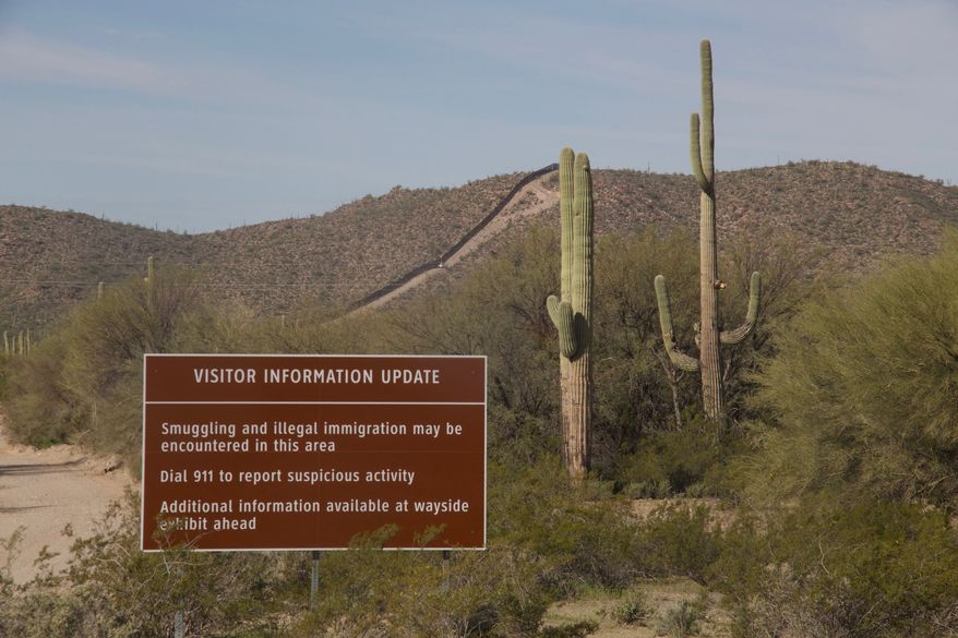 Drug traffickers were once so prevalent in Organ Pipe Cactus National Monument that visits were limited. Now all 516 square miles of its sweeping mountains and cactus-covered terrain is fully accessible. (Stephen Dinan/The Washington Times)
