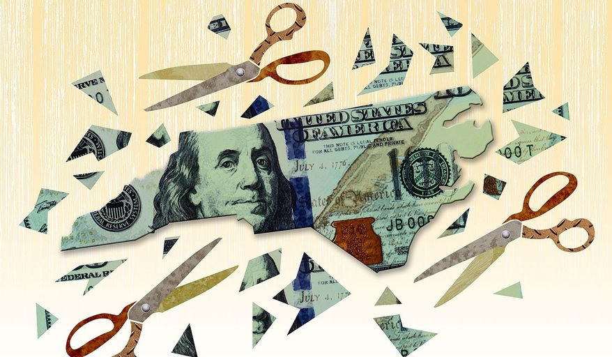 Productive North Carolina Tax Cuts Illustration by Greg Groesch/The Washington Times