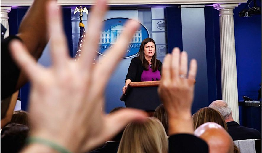 """Today is a day for consoling the survivors and mourning those we lost,"" said White House press secretary Sarah Huckabee Sanders. (Associated Press)"