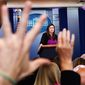 """""""Today is a day for consoling the survivors and mourning those we lost,"""" said White House press secretary Sarah Huckabee Sanders. (Associated Press)"""