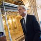 Bills are going before the Senate to effectively block President Trump from dismissing special counsel Robert Mueller from his investigations into election meddling. (Associated Press)