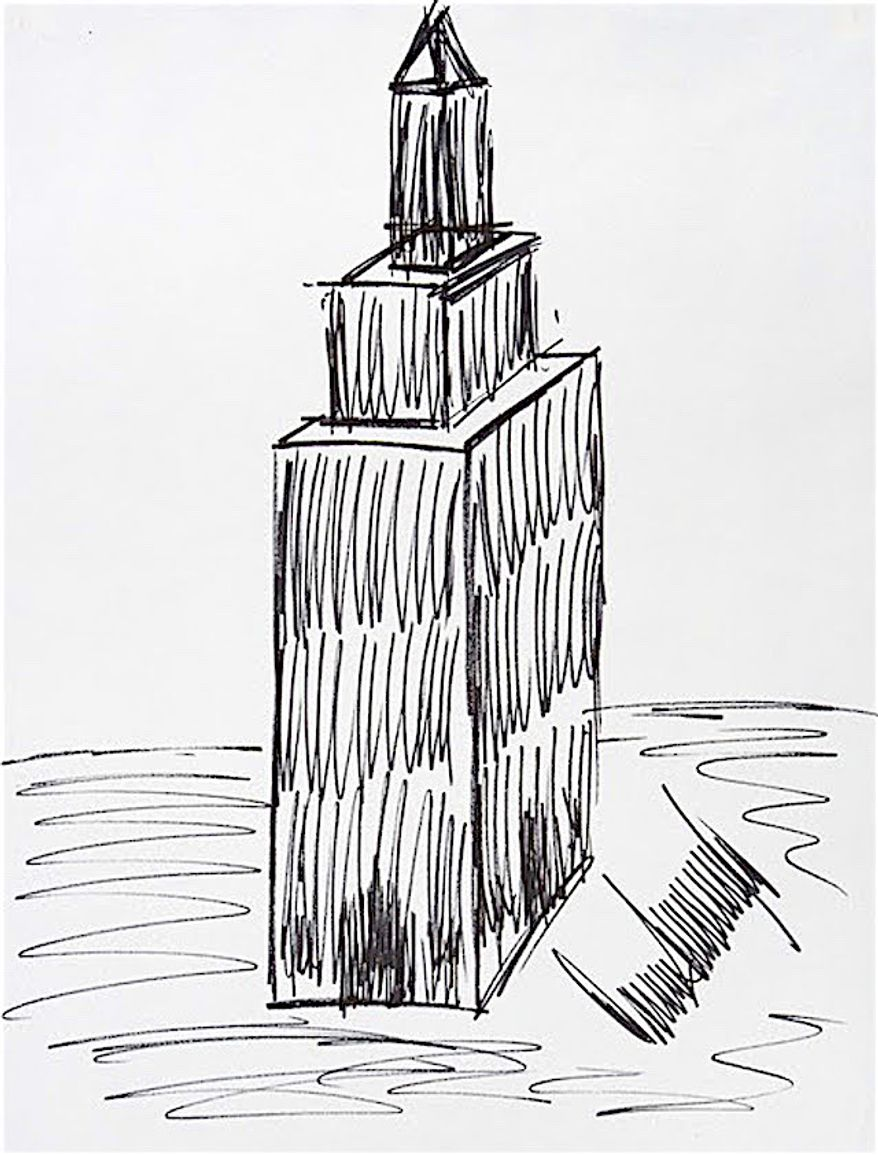 A 1990's-era drawing by Donald Trump of the Empire State Building could fetch $12,000 at auction. (Julien's Auctions)