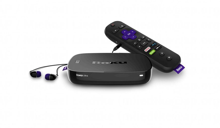 This photo provided by Roku shows the Roku Ultra video streaming player. Bolstered by a $113 million infusion from investors, Roku is reducing the price on the next generation of its best video streaming player in an attempt to fend off competitive threats from Apple and Amazon. (Roku via AP)