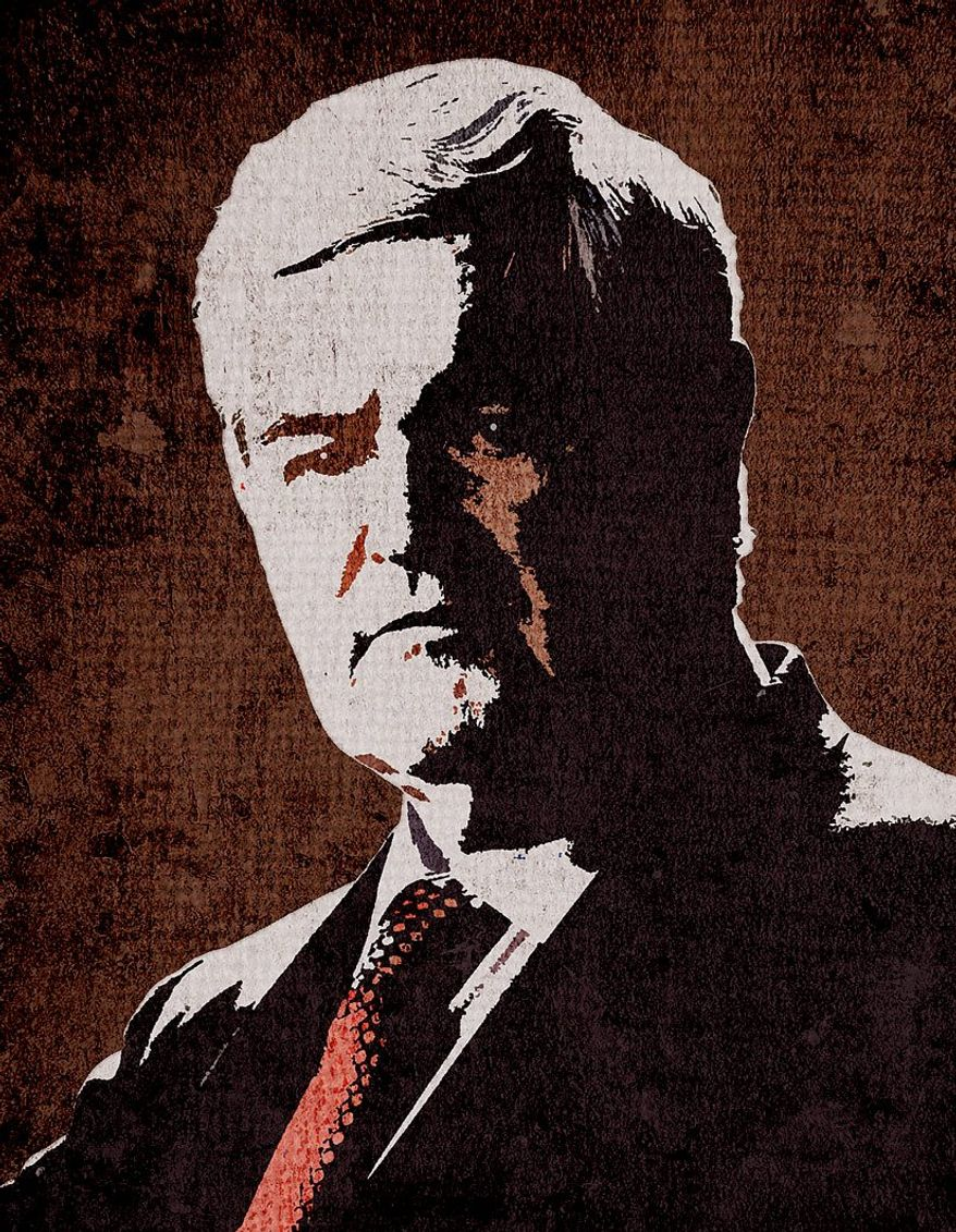 Newt Gingrich Illustration by Greg Groesch/The Washington Times