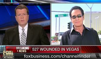 Performer Wayne Newton had some promising words for President Trump's visit to Las Vegas in an interview with Fox Business Network. (Fox Business Network)