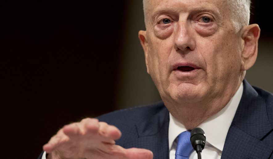 Defense Secretary James Mattis made clear to the Senate Armed Services Committee that if Iran could clearly demonstrate it was complying with the terms of the nuclear deal, formally known as the Joint Comprehensive Plan of Action, then the White House should stick with the plan. (Associated Press)