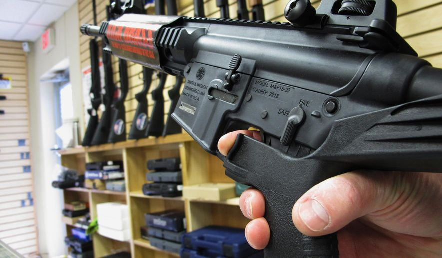 Bump stocks can turn semi-automatic rifles into rapid-fire weapons similar to machine guns. (Associated Press/File)