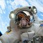 National Space Council will meet Thursday. Government officials and entrepreneurs will be in attendance. The event will be livestreamed. NASA astronaut Mike Hopkins, in the middle of a Christmas Eve space walk, outside the International Space Station in 2013. (NASA)