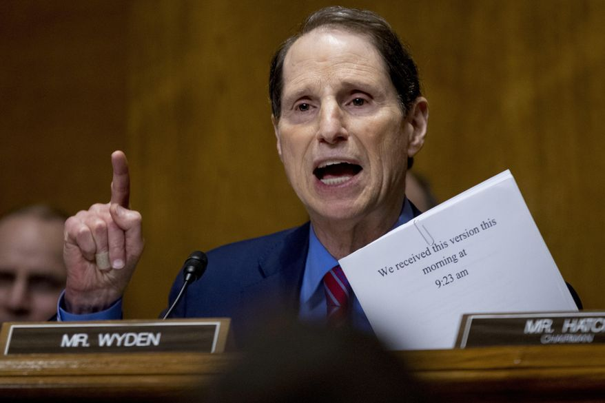 In this Monday, Sept. 25, 2017, file photo, Sen. Ron Wyden, D-Ore., speaks at a Senate Finance Committee hearing on Capitol Hill, in Washington. (AP Photo/Andrew Harnik, File)