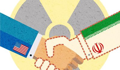 Nuclear Deal with Nobody Illustration by Greg Groesch/The Washington Times