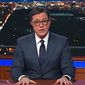 CBS Late Show host Stephen Colbert offered serious commentary on the Las Vegas mass shooting, and the need for gun control. (CBS)