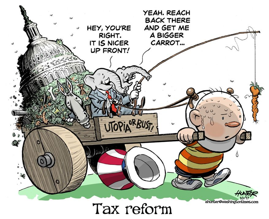 Tax reform (Illustration by Alexander Hunter for The Washington Times)