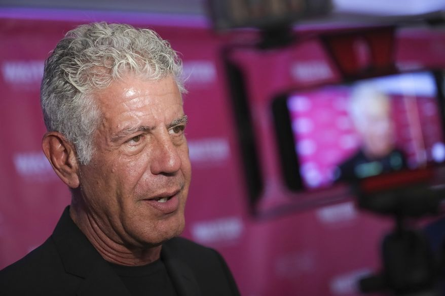 "Executive Producer and narrator chef Anthony Bourdain attends the premiere of ""Wasted! The Story of Food Waste"" at the Alamo Drafthouse Cinema on Thursday, Oct. 5, 2017, in New York. (Photo by Brent N. Clarke/Invision/AP)"
