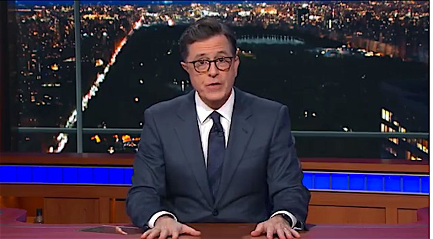 CBS Late Show host Stephen Colbert recently offered serious commentary on the Las Vegas mass shooting, and the need for gun control. (CBS)