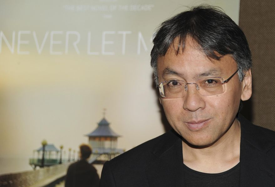 """In this Tuesday, Sept. 14, 2010, file photo, author Kazuo Ishiguro attends a special screening of """"Never Let Me Go"""" in New York. The Nobel Prize for Literature for 2017 has been awarded to British novelist Kazuo Ishiguro, it was announced on Thursday, Oct. 5, 2017. (AP Photo/Evan Agostini, File)"""