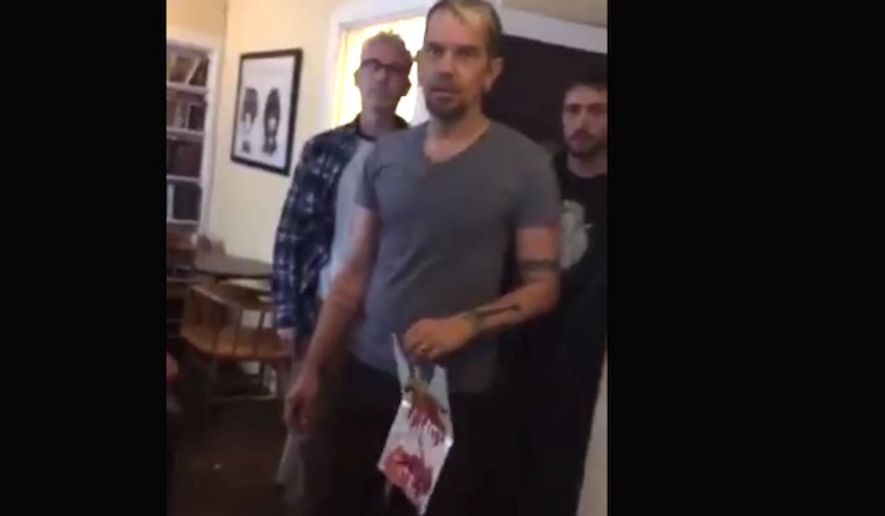 Members of Bedlam coffee shop in Seattle, Washington, kick out Christian customers after realizing they were posting graphic pro-life messages within the community prior to entering the establishment. Video of the encounter was published to the Abolish Human Abortion Facebook page on Oct. 1, 2017. (Image: Facebook, Abolish Human Abortion)