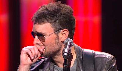 "Singer Eric Church debuts ""Why Not Me,"" a tribute for victims of the Las Vegas massacre. He told his audience at the Grand Ole Opry in Nashville, Tennessee, that he was inspired by by survivor Heather Melton. (YouTube, Grand Ole Opry)"